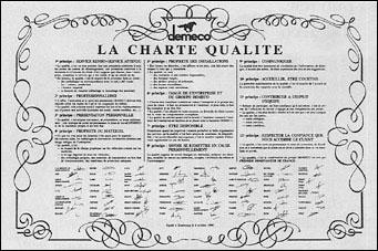 charte de qualite